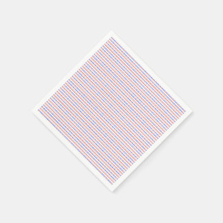 Red White & Blue 4th of July Paper Napkin