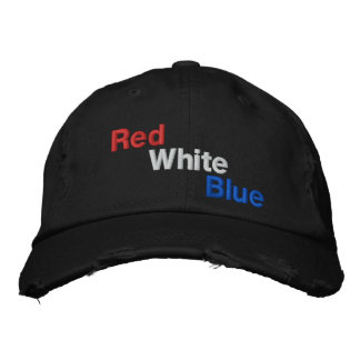 Red White Blue American Flag Colors Baseball Cap