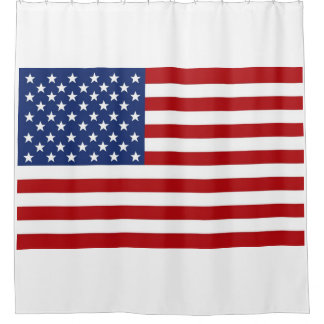 Red White Blue American Flag. Shower Curtain