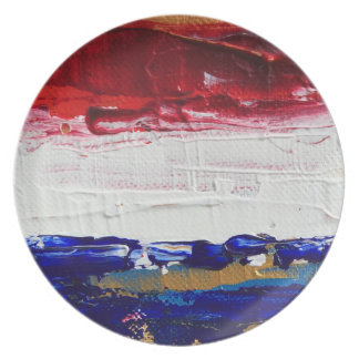 Red, White, Blue, and Gold Plates