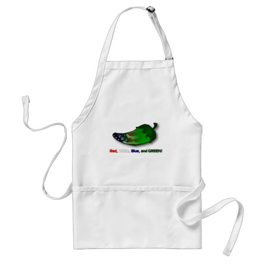 Red, White, Blue and Green Adult Apron