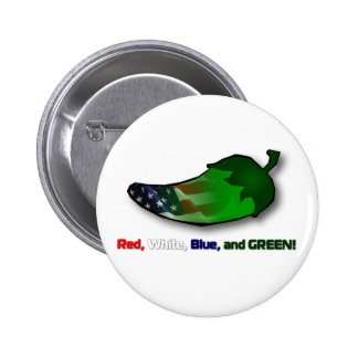 Red, White, Blue and Green Pin