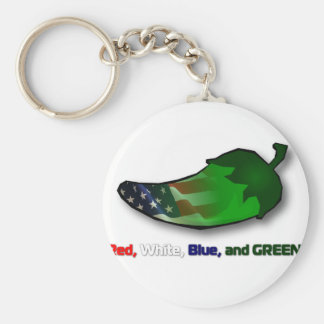 Red, White, Blue and Green Keychain