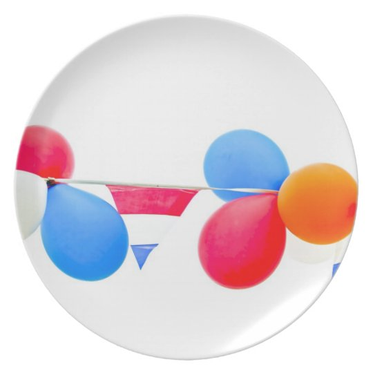 Red, white, blue and orange balloons from Holland Dinner Plate