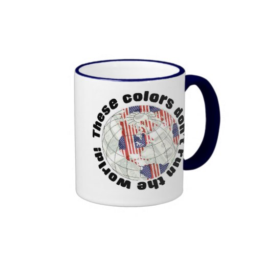 Red, white, blue and the American bill Ringer Coffee Mug