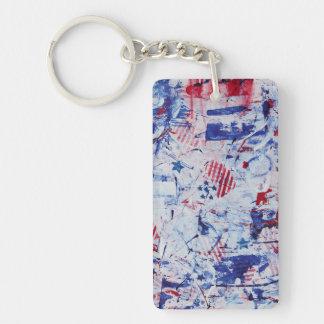 Red White Blue Anthem Keychain