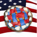 Red White & Blue Apple Pie Acrylic Cut Out