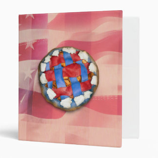 Red, White & Blue Apple Pie 3 Ring Binders