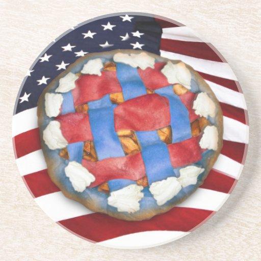Red White & Blue Apple Pie Drink Coaster