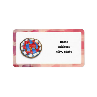 Red White Blue Apple Pie Personalized Address Labels