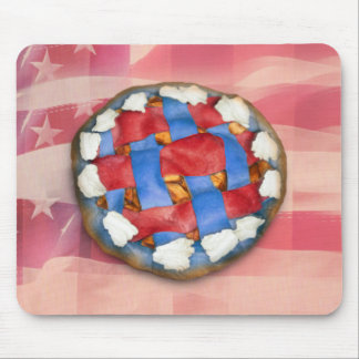 Red, White & Blue Apple Pie Mouse Pad