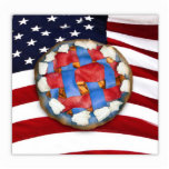 Red White & Blue Apple Pie Photo Cut Outs
