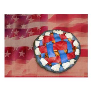 Red, White & Blue Apple Pie Postcard