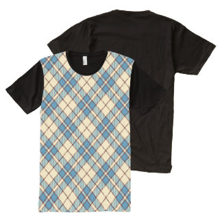 Red, White & Blue Argyle All-Over Print Shirt