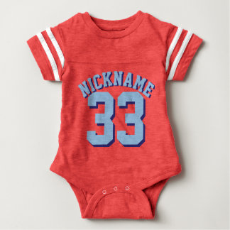 Red White & Blue Baby | Sports Jersey Design Baby Bodysuit