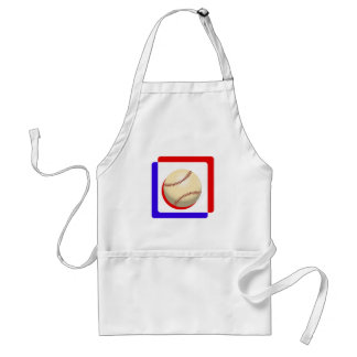 Red white & blue ball.png adult apron
