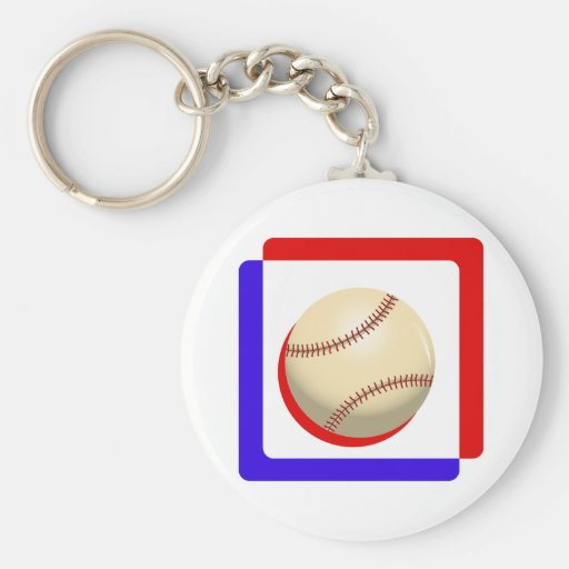 Red white & blue ball.png keychain