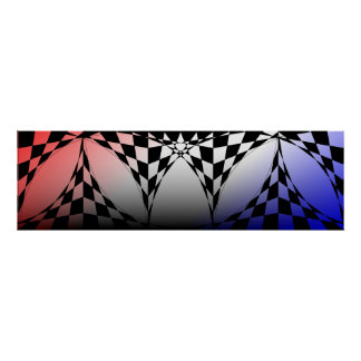 Red-White-Blue Banner by Kenneth Yoncich Poster