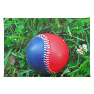 Red  White & Blue Baseball Cloth Placemat