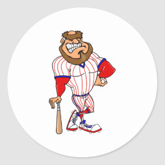 Red white blue baseball guy stickers
