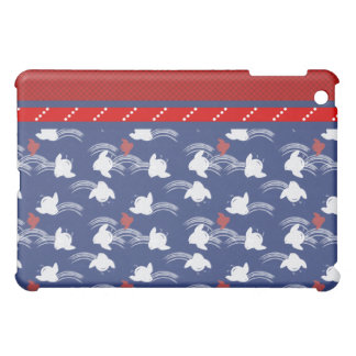 Red White Blue Bird Dots  Case For The iPad Mini