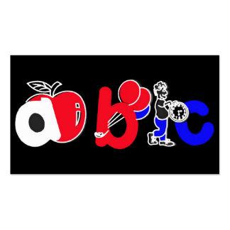 Red,White,Blue & Black,ABC Alphabet Logo Business Card Template
