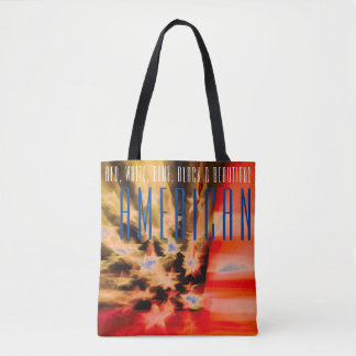 Red, White, Blue, Black & Beautiful American Tote Bag