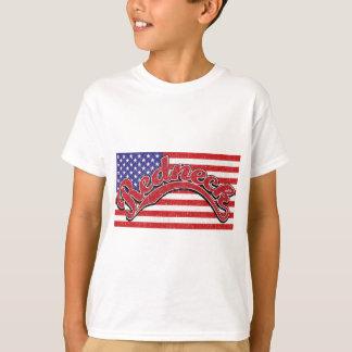 red white blue black T-Shirt