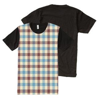 Red, White & Blue Blanket Plaid All-Over Print Shirt
