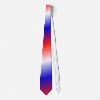 Red white blue blended fade necktie