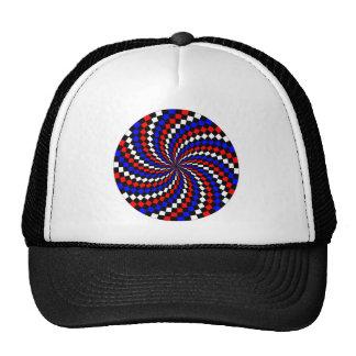 Red White Blue Checker Spiral by Kenneth Yoncich Trucker Hat