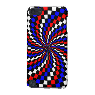 Red White Blue Checker Spiral iPod Touch 5G Case