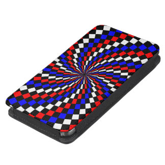 Red White Blue Checker Spiral Galaxy S5 Pouch