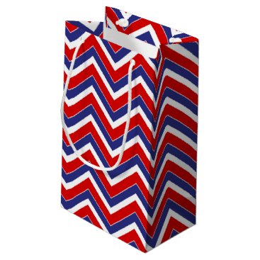 USA Themed Red,White,Blue Chevron 1-GIFT BAG s