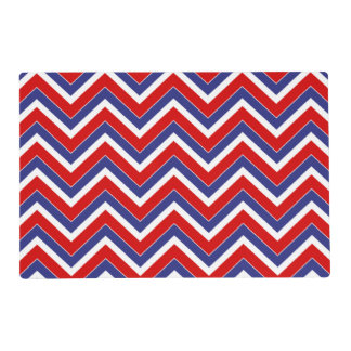 Red,White,Blue Chevron 1-LAMINATED PLACE MAT