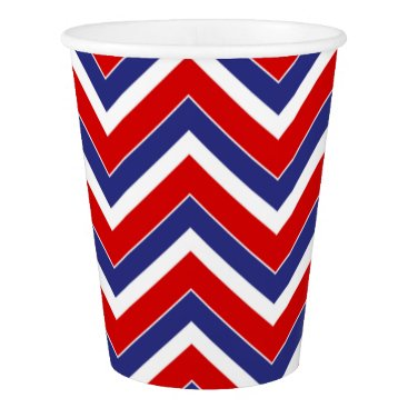 USA Themed Red,White,Blue Chevron 1-PAPER PARTY CUPS