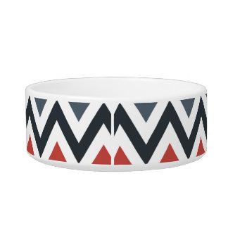 Red White Blue Chevron Geometric Designs Color Bowl