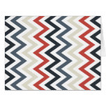 Red White Blue Chevron Geometric Designs Color Cards