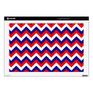 """Red White Blue Chevron 17"""" Laptop Decals"""
