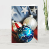 Red White & Blue Christmas Card