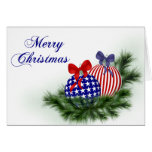 Red, White & Blue Christmas Cards