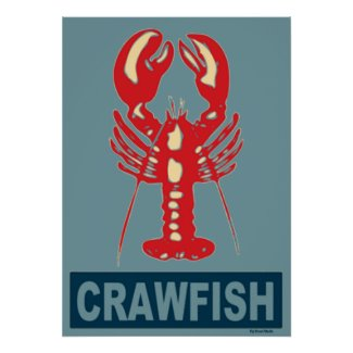 Red White Blue Crawfish print