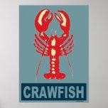 Red White Blue Crawfish Poster
