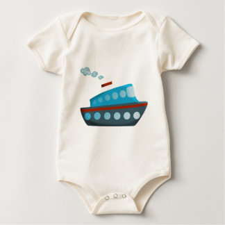 Red White Blue Cruise Ship Baby Bodysuit