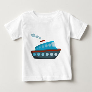 Red White Blue Cruise Ship Baby T-Shirt