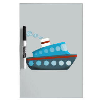 Red White Blue Cruise Ship Dry-Erase Board