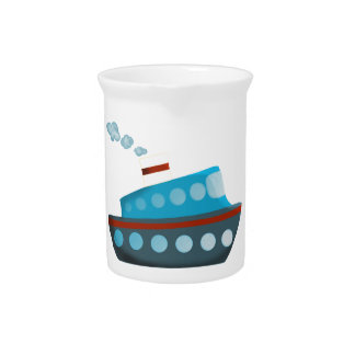 Red White Blue Cruise Ship Pitcher