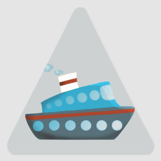 Red White Blue Cruise Ship Triangle Stickers