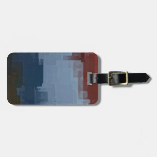 red white blue cubes bag tag