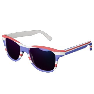 Red White Blue Custom Sunglasses